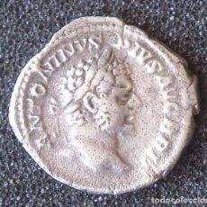 Reproducciones billetes y monedas: COPIA EN PLATA DE DENARIO DE CARACALLA 2,64 GR.. Lote 217184293