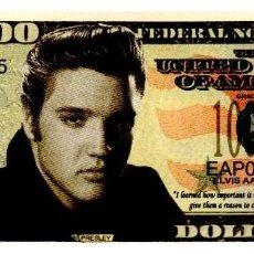 Reproducciones billetes y monedas: BILLETE DE USA DE ELVIS PRESLEY EN PERFECTO ESTADO. Lote 217402578