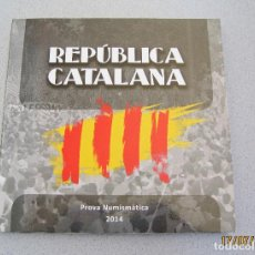 Reproducciones billetes y monedas: CARTERA (PRUEBA) CATALUÑA 2014 ... Lote 217431375