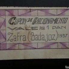 Reproducciones billetes y monedas: B-12 VALE POR UN PAN.. ZAFRA... 1937. ES EL DE LAS FOTO. Lote 217714082