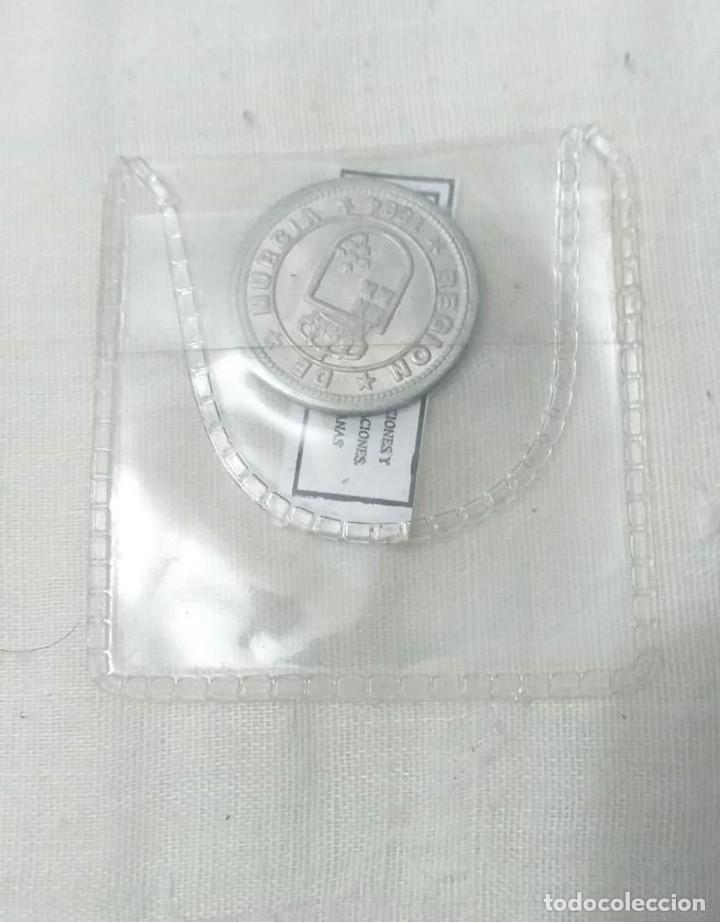 Reproducciones billetes y monedas: 4 MONEDAS ACUÑACIONES VALENCIANAS DE MURCIA. - Foto 7 - 217959336