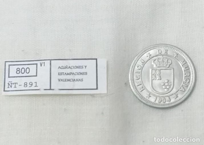 Reproducciones billetes y monedas: 4 MONEDAS ACUÑACIONES VALENCIANAS DE MURCIA. - Foto 9 - 217959336