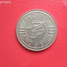 Reproducciones billetes y monedas: MONEDA O TOKEN PAQUET CASINO CROISIERES. Lote 218027716