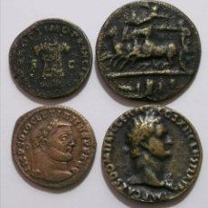 Reproducciones billetes y monedas: LOTE 4 REPRODUCIONES GRIEGAS Y ROMANAS. Lote 218038052