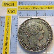 Reproducciones billetes y monedas: MONEDA REPRODUCCIÓN CALIDAD. ISABEL II REINA DE LAS ESPAÑAS. 20 REALES AÑO 1859. Lote 271090158