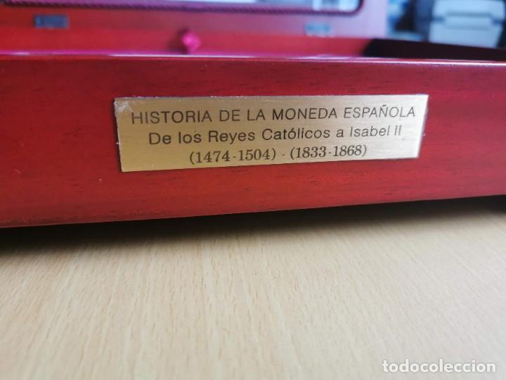 Reproducciones billetes y monedas: LA HISTORIA DE LA MONEDA ESPAÑOLA 17 MONEDAS DE PLATA Y ORO EMISIÓN ESPECIAL CONMEMORATIVA FNMT - Foto 2 - 218581483