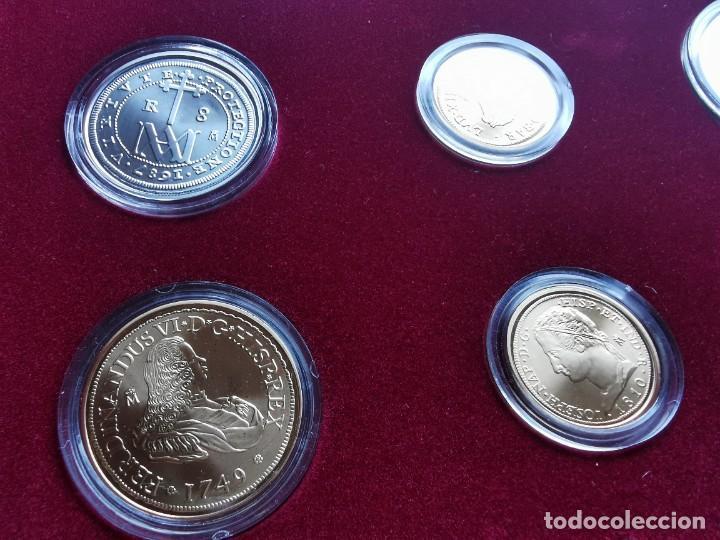 Reproducciones billetes y monedas: LA HISTORIA DE LA MONEDA ESPAÑOLA 17 MONEDAS DE PLATA Y ORO EMISIÓN ESPECIAL CONMEMORATIVA FNMT - Foto 4 - 218581483