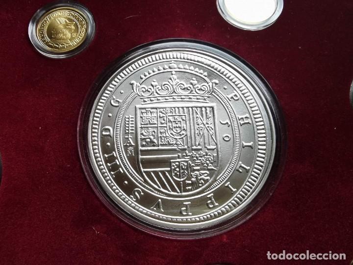 Reproducciones billetes y monedas: LA HISTORIA DE LA MONEDA ESPAÑOLA 17 MONEDAS DE PLATA Y ORO EMISIÓN ESPECIAL CONMEMORATIVA FNMT - Foto 6 - 218581483