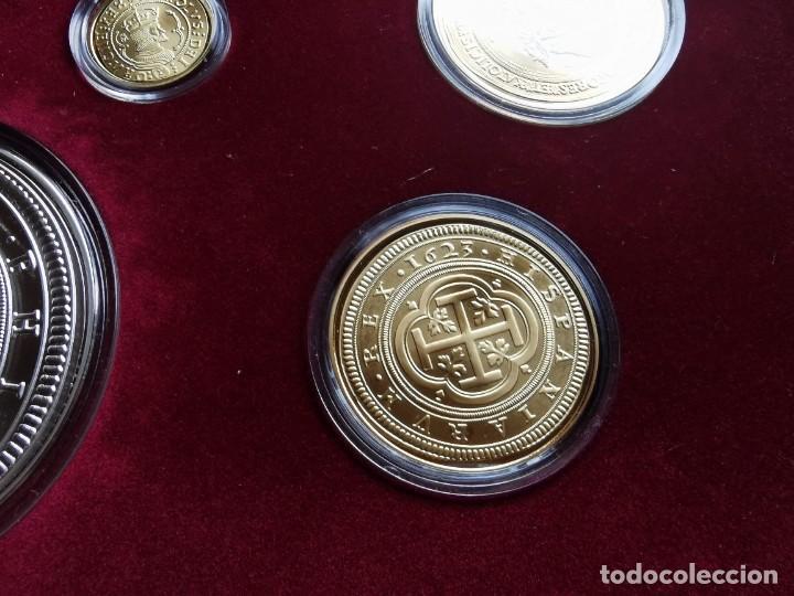 Reproducciones billetes y monedas: LA HISTORIA DE LA MONEDA ESPAÑOLA 17 MONEDAS DE PLATA Y ORO EMISIÓN ESPECIAL CONMEMORATIVA FNMT - Foto 7 - 218581483