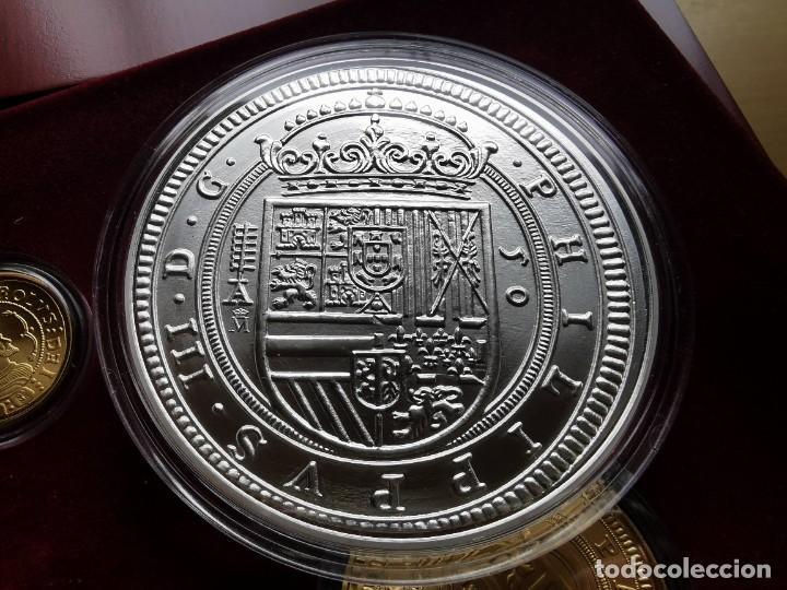 Reproducciones billetes y monedas: LA HISTORIA DE LA MONEDA ESPAÑOLA 17 MONEDAS DE PLATA Y ORO EMISIÓN ESPECIAL CONMEMORATIVA FNMT - Foto 14 - 218581483