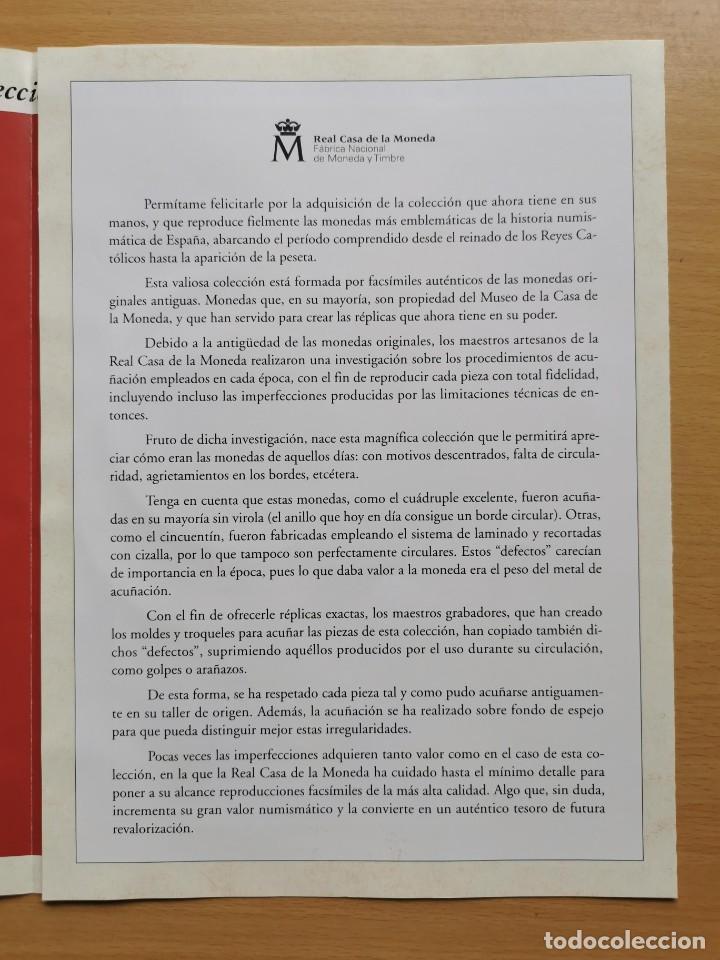 Reproducciones billetes y monedas: LA HISTORIA DE LA MONEDA ESPAÑOLA 17 MONEDAS DE PLATA Y ORO EMISIÓN ESPECIAL CONMEMORATIVA FNMT - Foto 18 - 218581483