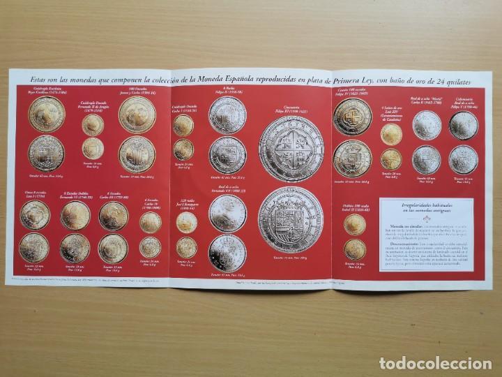 Reproducciones billetes y monedas: LA HISTORIA DE LA MONEDA ESPAÑOLA 17 MONEDAS DE PLATA Y ORO EMISIÓN ESPECIAL CONMEMORATIVA FNMT - Foto 19 - 218581483
