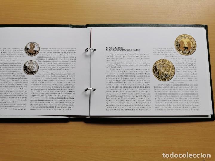 Reproducciones billetes y monedas: LA HISTORIA DE LA MONEDA ESPAÑOLA 17 MONEDAS DE PLATA Y ORO EMISIÓN ESPECIAL CONMEMORATIVA FNMT - Foto 27 - 218581483