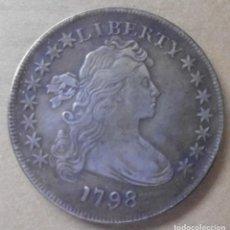 Reproducciones billetes y monedas: MONEDA DE 1798. Lote 218784782