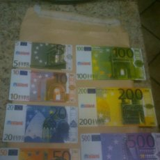 Reproducciones billetes y monedas: COLECCIÓN BILLETES FACSÍMIL. EUROS. MINILAND.MATERIAL DIDACTICO. Lote 218848128