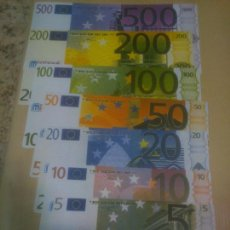 Reproducciones billetes y monedas: COLECCIÓN BILLETES FACSÍMIL. EUROS. MINILAND.MATERIAL DIDACTICO. Lote 218848218