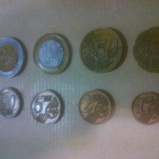 Reproducciones billetes y monedas: COLECCIÓN MONEDAS FACSÍMIL. EUROS. MINILAND.MATERIAL DIDACTICO. Lote 218848408