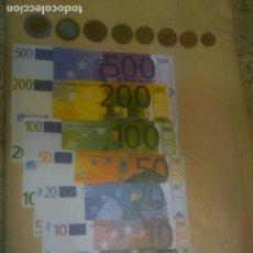 Reproducciones billetes y monedas: COLECCIÓN MONEDAS Y BILLETES FACSÍMIL. EUROS. MINILAND.MATERIAL DIDACTICO. Lote 218848478