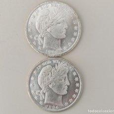 Reproducciones billetes y monedas: MEDIO DOLAR USA 1893/1894 DE DOS CARAS IGUALES CON LA LIBERTAD. Lote 219464405