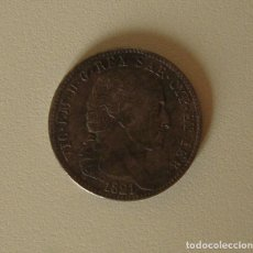 Reproducciones billetes y monedas: 5 LIRAS DE CERDEÑA DE 1821 REY VICTOR MANUEL I. Lote 219467413