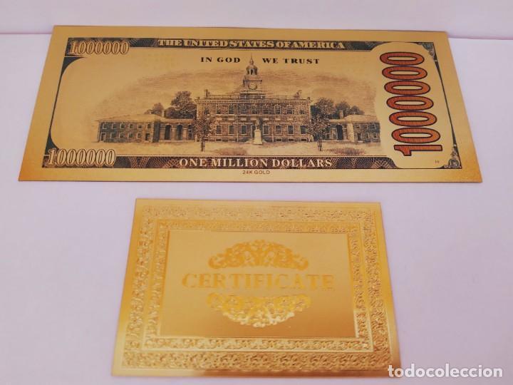 Reproducciones billetes y monedas: EXCLUSIVO BILLETE DE COLLECCION DE SPIDERMAN 99,9% ORO 24 K CON CERTIFICADO DE AUTENTICIDAD - Foto 4 - 262136960