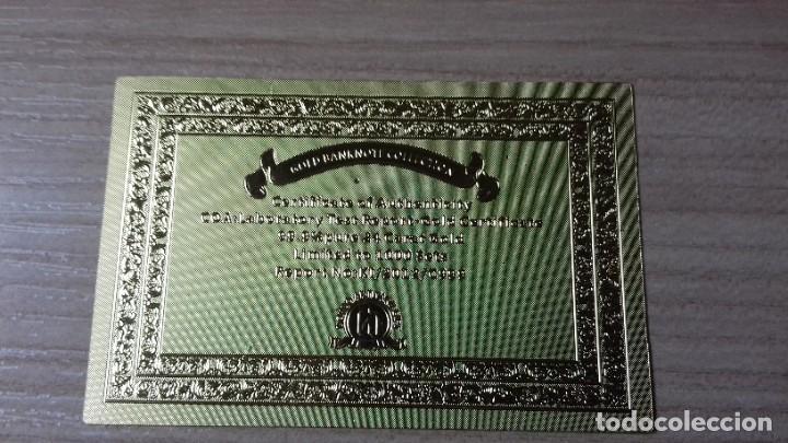 Reproducciones billetes y monedas: Lote de billetes de Euros con plancha de oro y certificado de autencidad - Foto 9 - 219694921