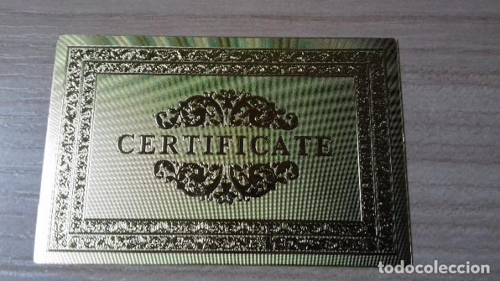 Reproducciones billetes y monedas: Lote de billetes de Euros con plancha de oro y certificado de autencidad - Foto 11 - 219694921
