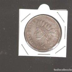 Reproducciones billetes y monedas: 1 MONEDA DE 1 DOLLAR ESTADOS UNIDOS 1851 NO PLATA REPLICA BIEN HECHA. Lote 219848461