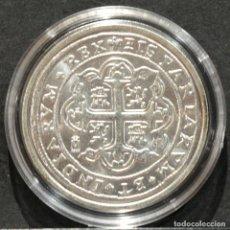 Reproducciones billetes y monedas: REPRODUCCIÓN MONEDA PLATA 8 REALES 1725 MEXICO LUIS I ESPAÑA METAL CON BAÑO DE PLATA PURA. Lote 220569537