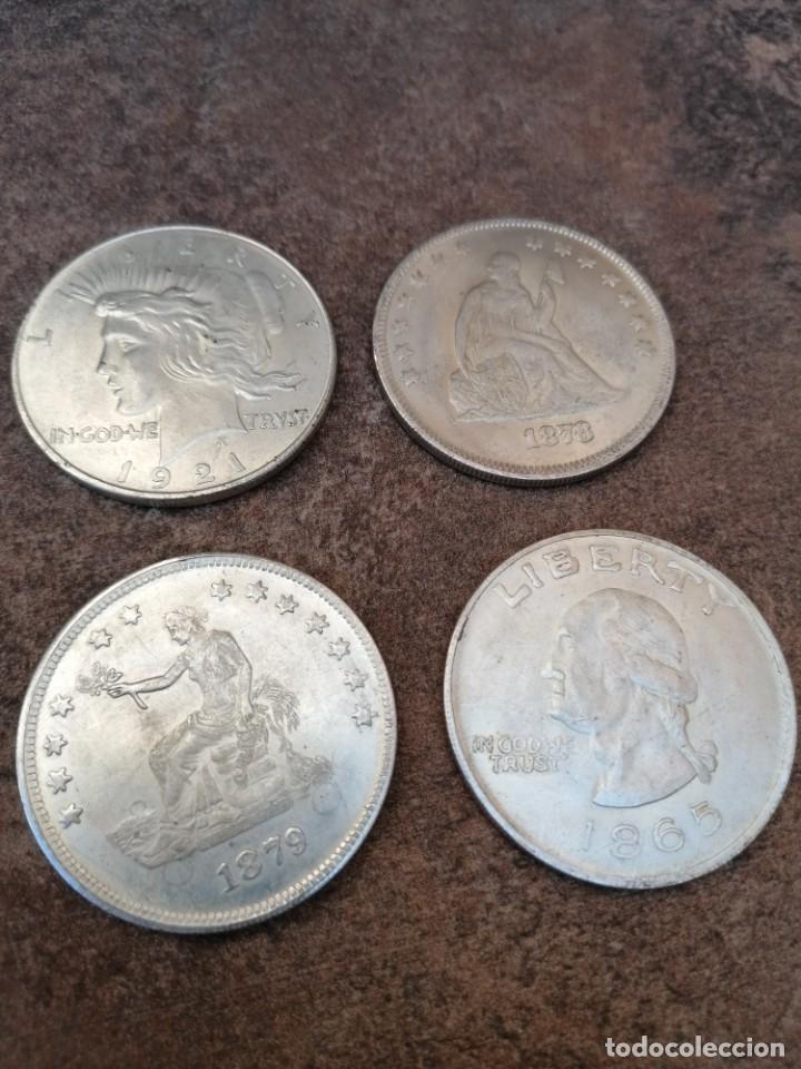 Reproducciones billetes y monedas: UN DOLAR USA 1878 - Foto 4 - 54455700