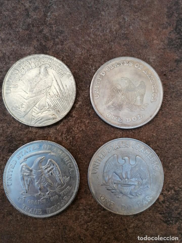 Reproducciones billetes y monedas: UN DOLAR USA 1878 - Foto 5 - 54455700