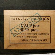 Reproductions billets et monnaies: RGH2672 - VALE DE LOS 50 CÉNTIMOS DE LOS TRANVÍAS DE GIJÓN (ASTURIAS). Lote 220886780