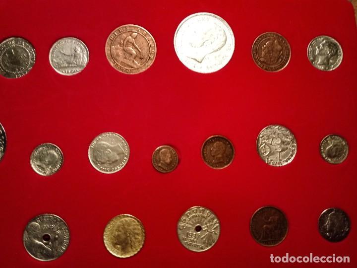 Reproducciones billetes y monedas: CUADRO DE LA HISTORIA DE LA PESETA CON TODAS LAS MONEDAS DESDE LOS PRINCIPIOS DE ESTA - Foto 3 - 220903012