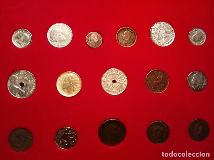 Reproducciones billetes y monedas: CUADRO DE LA HISTORIA DE LA PESETA CON TODAS LAS MONEDAS DESDE LOS PRINCIPIOS DE ESTA - Foto 4 - 220903012