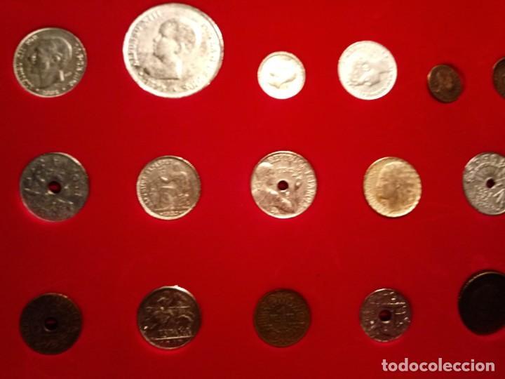 Reproducciones billetes y monedas: CUADRO DE LA HISTORIA DE LA PESETA CON TODAS LAS MONEDAS DESDE LOS PRINCIPIOS DE ESTA - Foto 5 - 220903012