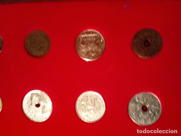 Reproducciones billetes y monedas: CUADRO DE LA HISTORIA DE LA PESETA CON TODAS LAS MONEDAS DESDE LOS PRINCIPIOS DE ESTA - Foto 7 - 220903012