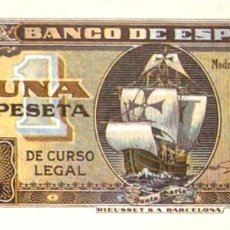 Riproduzioni banconote e monete: BILLETE 1 UNA PESETA BANCO DE ESPAÑA - 4 SEPTIEMBRE 1940 - FACSIMIL FNMT REPRODUCCION. Lote 220964013