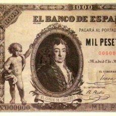 Riproduzioni banconote e monete: BILLETE 1000 MIL PESETAS BANCO DE ESPAÑA - 1 MAYO 1895 - FACSIMIL FNMT REPRODUCCION. Lote 220979937