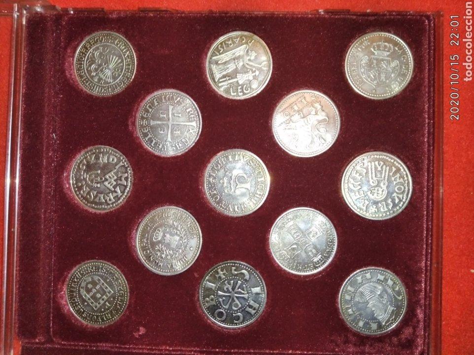 Reproducciones billetes y monedas: Estuche monedas Arras de Galicia. - Foto 2 - 221163816