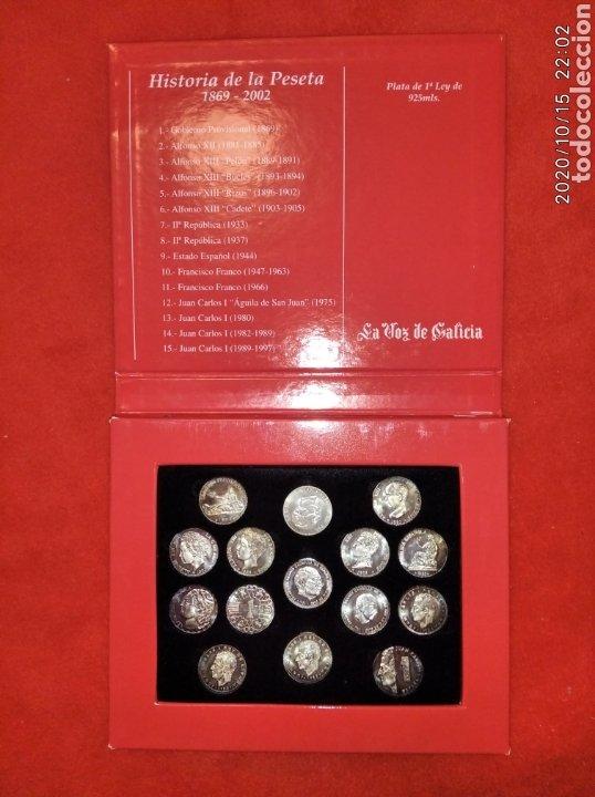 ESTUCHE DE MONEDAS CON LAS ARRAS DE GALICIA EN PLATA. (Numismática - Reproducciones)