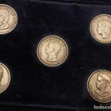 Reproducciones billetes y monedas: ESTUCHE CON MONEDAS O MEDALLAS CONMEMORATIVAS DE LA CASA REAL JUAN CARLOS I. Lote 221164207