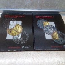 Reproductions billets et monnaies: DOS ALBUN COLECCION DINERO HISTORIA DE LOS REYES CATOLICOS A JUAN CARLOS I ÁLBUM DE MONEDAS ESPAÑA.. Lote 221484175