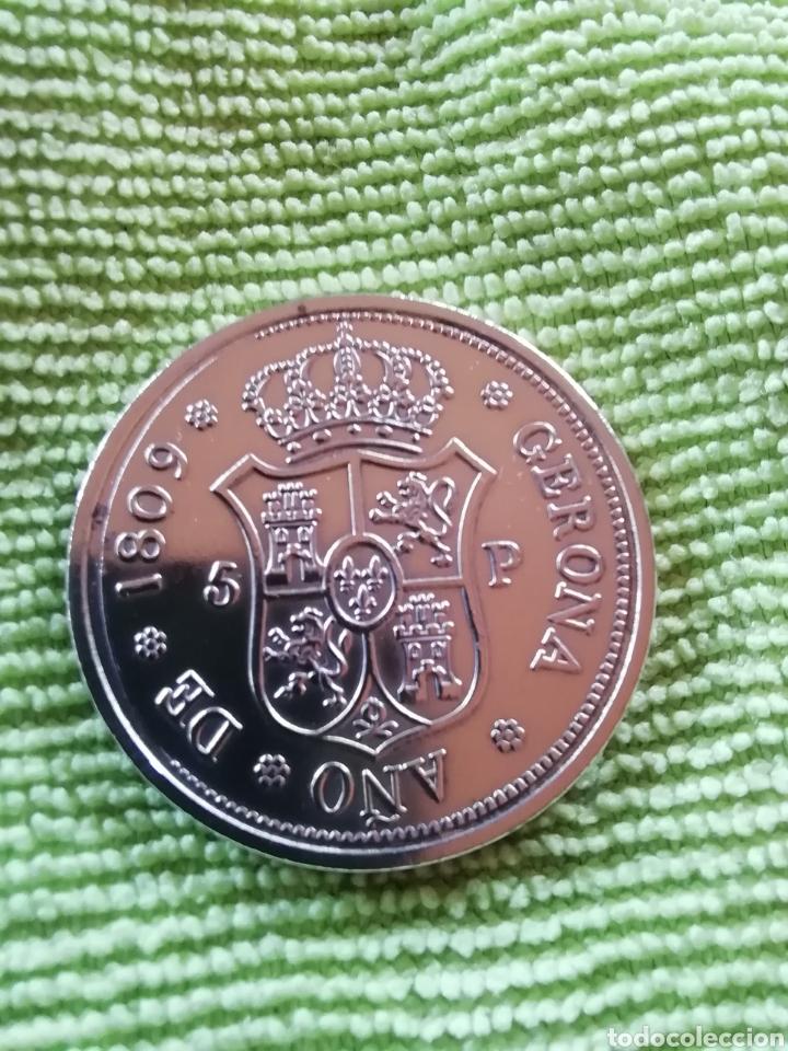 Reproducciones billetes y monedas: Moneda de frenando VII 1809. Dedicada a gerona - Foto 2 - 221516391