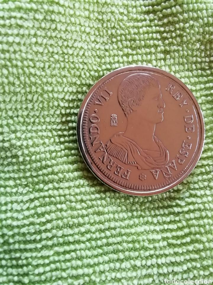Reproducciones billetes y monedas: Moneda de frenando VII 1809. Dedicada a gerona - Foto 4 - 221516391