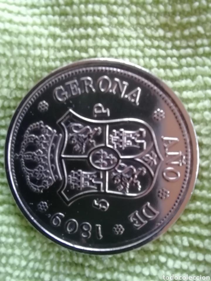 MONEDA DE FRENANDO VII 1809. DEDICADA A GERONA (Numismática - Reproducciones)