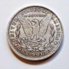 Reproducciones billetes y monedas: 1879 USA ONE DOLLAR - 22.81.GRAMOS - 38.MM DIAMETRO. Lote 221700127