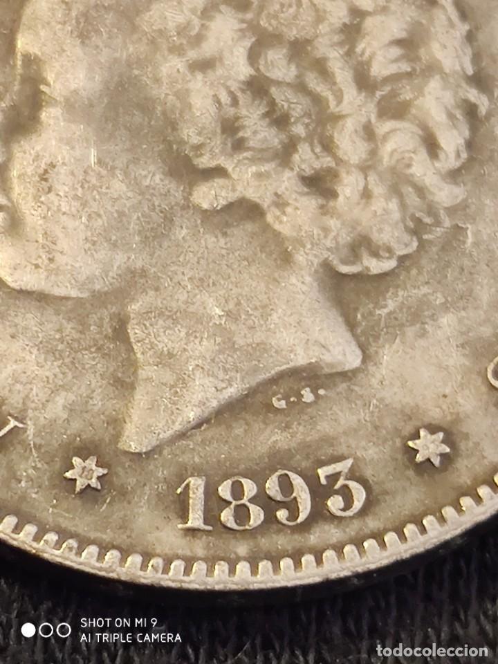 Reproducciones billetes y monedas: MONEDA 5 PESETAS ALFONSO XIII, 1883 PG. - Foto 2 - 221782593