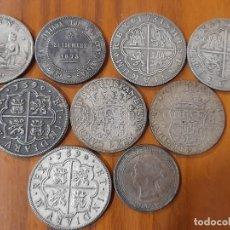 Reproducciones billetes y monedas: LOTE MONEDAS ANTIGUAS FALSAS.. Lote 221784497