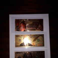 Reproducciones billetes y monedas: 59-LOTE DE COLECCION DE BILLETES ORO 24 K. Lote 221835340