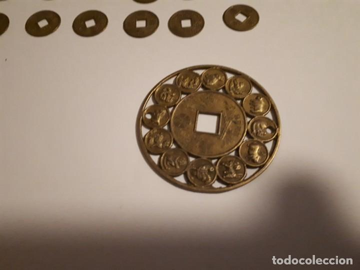 Reproducciones billetes y monedas: 67-LOTE DE MONEDAS Y LINGOTE DE CINABRIO - Foto 9 - 221836888